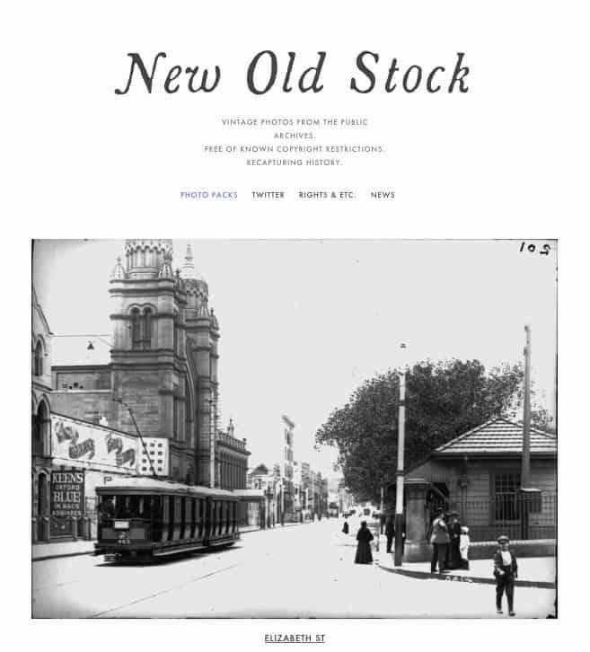 Lizenzfreie Bilder kostenlos - newoldstock website